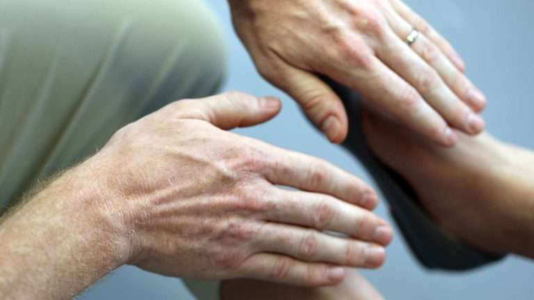 Biotherapy treatment Hands Close-up
